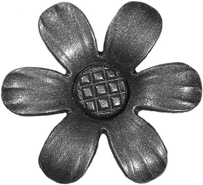 Zierrosette, Version 6, Dm. 75mm, Material 3mm
