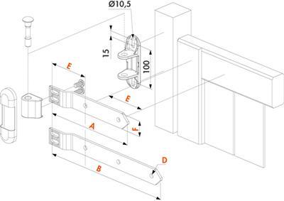 180 torband 3dw feuerverzinkt l nge 250mm. Black Bedroom Furniture Sets. Home Design Ideas